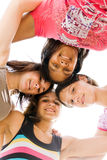 Youth girls. Group of happy teenager youth girls Stock Photography