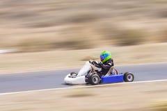 Youth Go Kart Racer Stock Photos
