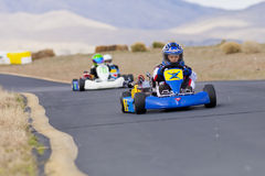 Youth Go Kart Racers Royalty Free Stock Images