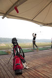 Youth golf practice Royalty Free Stock Photo