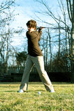 Youth golfer in swing Stock Images