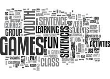 Youth Group Games Activities Word Cloud Royalty Free Stock Photo