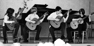 Youth guitar quartet Royalty Free Stock Photo
