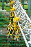 Youth having fun in Amusement Park Sarkanniemi Stock Photo