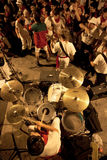 Youth are having fun with  rock band at San Fermin Royalty Free Stock Images