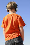 Youth with headphones Royalty Free Stock Photography