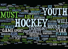 Youth Hockey In The Modern Age Text Background Word Cloud Concept Stock Image