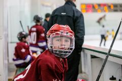 Youth hockey player Royalty Free Stock Image