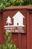 Youth hostel sign Oregrund Stock Image