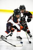 Youth Ice Hockey. Arizona youth ice hockey league with both girls and boys play in game action located in Gilbert Arizona in the Southwest part of the United stock photos