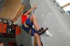 Youth indoor climbing Royalty Free Stock Images