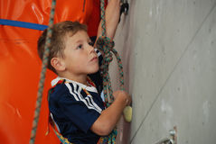 Youth indoor climbing Stock Photos