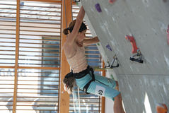 Youth indoor climbing Stock Photography