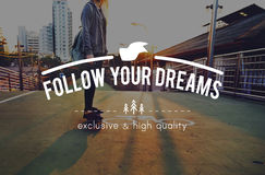 Youth Jourhey Young Words Carefree Skateboard Graphic Concept. Youth Journey Carefree Skateboard Travel Stock Photography