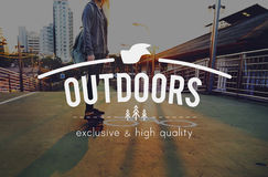 Youth Jourhey Young Words Carefree Skateboard Graphic Concept. Woman Young Journey Outdoors Graphic Concept Royalty Free Stock Images