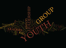 Youth Leadership Activities Text Background  Word Cloud Concept Stock Photography