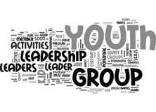 Youth Leadership Activities Word Cloud Royalty Free Stock Photos