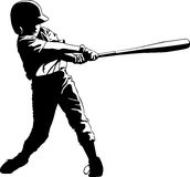 Youth League Baseball Hitter. Batter in youth league getting a hit Royalty Free Stock Photos