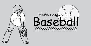 Youth League Baseball Logo Stock Photography