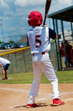 Youth little league baseball batter. Royalty Free Stock Photo