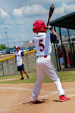 Youth little league baseball batter. Royalty Free Stock Images