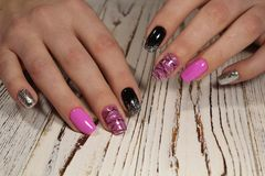 Youth manicure design Stock Image