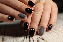 Youth manicure design Royalty Free Stock Images