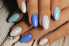 Youth manicure design best nails, gel varnish royalty free stock images