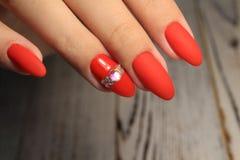 Youth manicure design best nails, gel varnish stock images