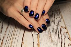 Youth manicure design best nails, gel varnish stock image
