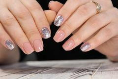 Youth manicure design Stock Photos