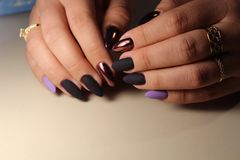 Youth manicure design Royalty Free Stock Photo