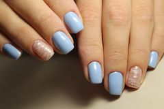 Youth manicure design Royalty Free Stock Image