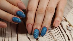 Youth manicure design Royalty Free Stock Photos