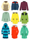 Youth mens jackets. A set of mens jackets isolated on white background Royalty Free Stock Images