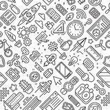 Youth, Modern and Business Pattern Theme. Line Art Design. Doodle Style vector illustration