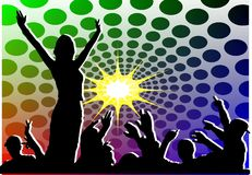 Youth musical party Royalty Free Stock Images