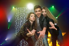 Youth at the party. A group of young people at a disco Royalty Free Stock Photos