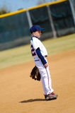Youth player on field Royalty Free Stock Photos