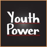 Youth Power word on education, inspiration and motivation concepts. Vector illustration. EPS 10 royalty free illustration