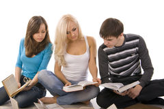 Youth reading books Stock Photos