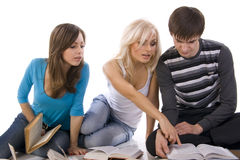 Youth reading books Stock Photo