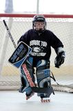 Youth Roller hockey Game. A New Jersey youth roller hockey league with both girls and boys play. this a game action photo stock images