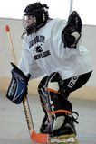 Youth Roller hockey Game. A New Jersey youth roller hockey league with both girls and boys play. this a game action photo stock photo
