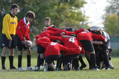 Youth rugby championship Royalty Free Stock Photos