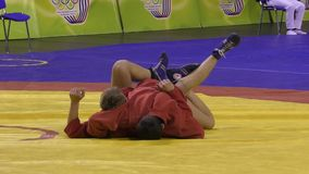 Youth Sambo competitions stock footage