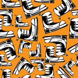 Youth shoes seamless pattern.  Royalty Free Stock Image