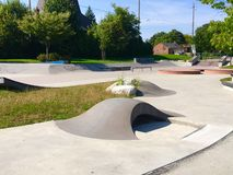 Youth skateboard area. Royalty Free Stock Image