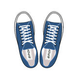 Youth sneakers stylish shoes top view Stock Images