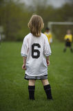 Youth Soccer. Girl Playing Youth Soccer Royalty Free Stock Images